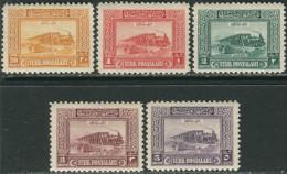 Turkey 1926. Michel #52/56 MNH/Luxe. Trains - Nuevos
