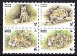 KGZ-    06    KYRGYSZTAN – 1999 ANIMALS FOXES