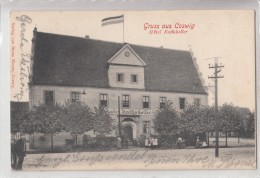 B82283 Coswig Hotel Rathkskellern  Germany  Front Back Image - Coswig