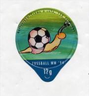 opercule  de creme theme coupe monde football escargot