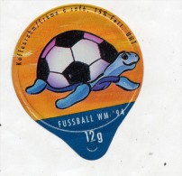 opercule  de creme theme coupe monde football tortue