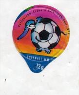 opercule  de creme theme coupe monde football  elephant