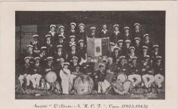 """Calvados : CAEN  :  Société """" L ALERTE  S M C F   1925-1945  Groupe  Musique - Caen"""