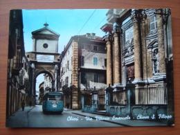 CHIERI - Via Vittorio Emanuele - Filobus - Italy