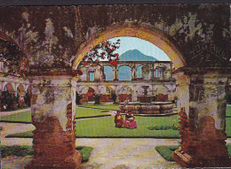Guatemala PPC Convento De Santa Clara Volcan De Agua 1984 Sent To Denmark Coin Münze Stamp - Guatemala