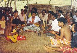 Fiji PPC Meke Time Singing & Playing Music Sent 1989 To Denmark (2 Scans) - Fidschi