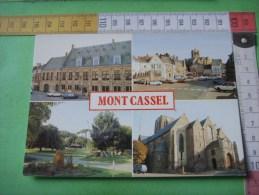 59- 63 ) Mont Cassel : Musee,place De Gaulle,jardin Public,collegiale Notre Dame :multivues - France