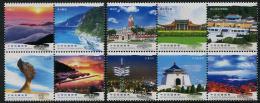 TAIWAN 2013 - Paysages, Sites Touristiques De Taïwan - 10val Neuf // Mnh - 1945-... République De Chine