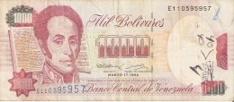 BILLETE DE VENEZUELA DE 1000 BOLIVARES DEL AÑO 1994 (BANKNOTE) - Venezuela