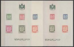 Irak - Iraq (1948) Yv. Bf. 1 - 2 Nice Blocks Perf. + Imperf.  /  Flags - King Faisal II - Irak