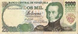 BILLETE DE VENEZUELA DE 2000 BOLIVARES DEL AÑO 1994 (BANKNOTE) RARO - Venezuela