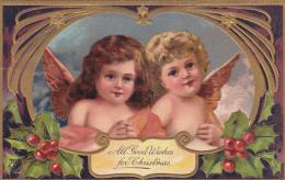 Two Christmas Angels , PFB SERIE 9103 , PU-1911