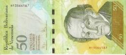 BILLETE DE VENEZUELA DE 50 BOLIVARES DEL 3 SEPTIEMBRE 2009 (BANKNOTE) OSO FRONTINO (BEAR)(pequeña Rotura -celo) - Venezuela