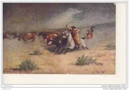 JOHN INNES ILLUSTRATION COWBOYS ETAT UNIS TROILENE RANCHING SERIE Cpa Bon état - Non Classificati