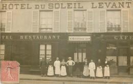 COULOMMIERS  Hotel du SOLEIL LEVANT  BOUVARD succ   carte photo