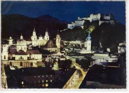SALZBURG Bei Nacht Und Festbeleutung, Altstadt Mit Festung, 1966 - Salzburg Stadt