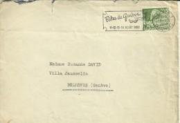 SUIZA GENEVE CC CON RODILLO FETES DE GENEVE 1950 - Fiestas