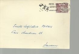 SUIZA FETES DE GENEVE 1951 FRONTAL FRONT - Fiestas
