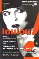 """Carte Postale édition """"Carte à Pub"""" - Orchestre National De Lyon Présente Loulou (Louise Brooks) Cinéma Concert - Publicité"""