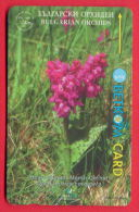 H25 / BETKOM - Bulgarije - FLOWERS ORCHIDS , SOCIETY FOR THE PROTECTION OF BIRDS Phonecards  Bulgaria Bulgarie - Fiori
