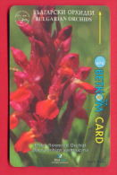 H46 / BETKOM - Bulgarije - FLOWERS ORCHID , SOCIETY FOR THE PROTECTION OF BIRDS Phonecards  Bulgaria Bulgarie - Flowers
