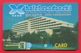 """H68 / BETKOM - HOTEL """" SANDANSKI """"   Phonecards Télécartes Telefonkarten Bulgaria Bulgarie Bulgarien Bulgarije - Bulgaria"""