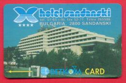 """H71 / BETKOM - HOTEL """" SANDANSKI """"   Phonecards Télécartes Telefonkarten Bulgaria Bulgarie Bulgarien Bulgarije - Bulgaria"""