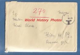 Enveloppe Ancienne Et Courrier - écrite Par Fritz Schindler - 1940 - Voir Cachet - IIIe Reich - Non Classés