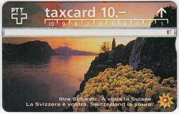 SWITZERLAND A-574 Hologram PTT - Landscape, Lake - 605G - used