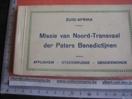 FOLDER 12 Postcards - Mision Noord Transvaal South Africa - Afflghmem Steenbrugge Pater PERE Father Benidictijnen - Etnicas