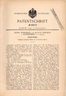 Original Patent - G. Wilscheck Und A. Eickhoff In Fröndenberg A.d. Ruhr , 1896 ,  Liniervorrichtung , Architekt !!! - Historische Dokumente