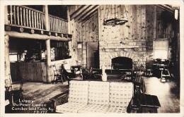 Kentucky Cumberland Falls Lobby DuPont Lodge Real Photo