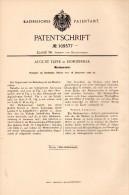 Original Patent - August Teppe In Hofgeismar , 1898 , Ordner Für Marken , Briefmarken , Briefmarke !!! - Historische Dokumente