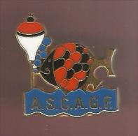 36612-Pin's.Peche.poisson .ASC  AGFsigné Plessis Paris. - Animales