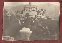 Stresa, Verbano, 28.8.1909, Sul Lago Maggiore, Fotografia Autentica Originale D'epoca Cm. 8 X 6 Montata Su Passepartout. - Luoghi