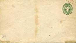 Entier Postal Enveloppe 1/2 Shilling Vert Aigle à Deux Têtes Neuf - Luebeck