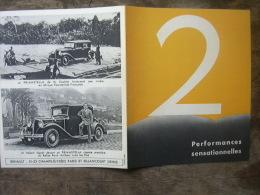 PUBLICITE RENAULT CABRIOLET PRIMASTELLA 1932 - Publicidad