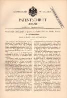 Original Patent -W. Grützner In Dominium Rzadkowo Bei Erpel I. Posen , 1890 , Gefäßwascher , Kolmar !!! - Historische Dokumente