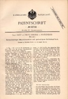 Original Patent - Graf Fritz De Pinto Simonis In Maisonbois , 1890 , Maschinenöler , Maison En Bois !!! - Historische Dokumente