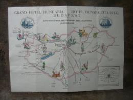 MENU GRAND HOTEL HUNGARIA HOTEL DUNAPALOTA RITZ BUDAPEST 18 AOUT 1936 - Menus