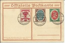 1919  Deutsche National Versammlung  Satz Auf Offizielle Postkarte   Weimar - Cartas