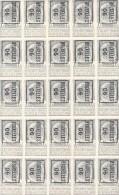 België Voorafgestempelde Zegel N° 1 In Velletje Van 25 Postfris - Typo Precancels 1906-12 (Coat Of Arms)