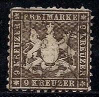 WURTTEMBERG, 1863, Cancelled Stamp(s) 9 Kreuzer, Dark-brown, MI 28, #16092 - Wurttemberg