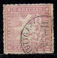 WURTTEMBERG, 1865, Cancelled Stamp(s) 3 Kreuzer, Red, MI 31, #16093 - Wuerttemberg