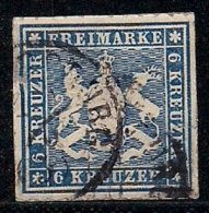 WURTTEMBERG, 1865, Cancelled Stamp(s) 6 Kreuzer, Coat Of Arms, MI 32, #16096 - Wurttemberg