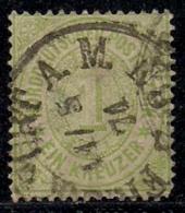 NORD DEUTSCHER POSTBEZIRK, 1869, Used,  Stamp(s) First Issue, 1 Kreuzer, MI 19 #16060, - North German Conf.