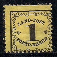 BADEN, 1862, Used ,  Stamp(s) Landpost Porto Marke, 1 Kreuzer, MI 1 #16061 - Baden