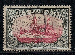 SOUTH WEST AFRICA, 1900, Cancelled Stamp(s) SMS Hohenzollern 5 Mark,  MI 23 #16063 - Occupation 1914-18