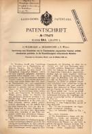 Original Patent - C. Widmaier In Möhringen B. Stuttgart , 1905 , Apparat Für Flaschen , Reinigung !!! - Historische Dokumente