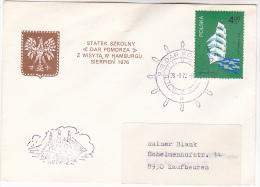 1972 COVER ´DAD COMODZA´  Tall Ship CACHET POLAND Stamps ´ SS POMOROSA ´ Sailing Ship Stamps - Ships